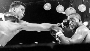 Ali outjabbed Liston in their first fight in 1964.