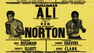 Muhammad Ali vs. Ken Norton Boxing Match Poster