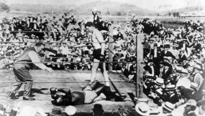 Jack Johnson Knocked Out by Jess Willard