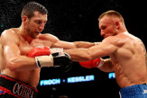 Carl Froch and Mikkel Kessler: plenty of violent exchanges.